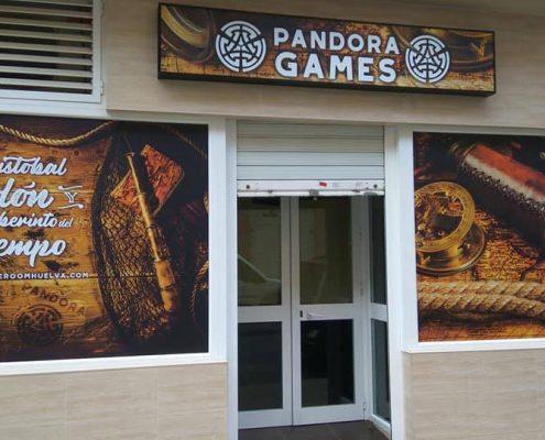 Rotulación Pandora Games