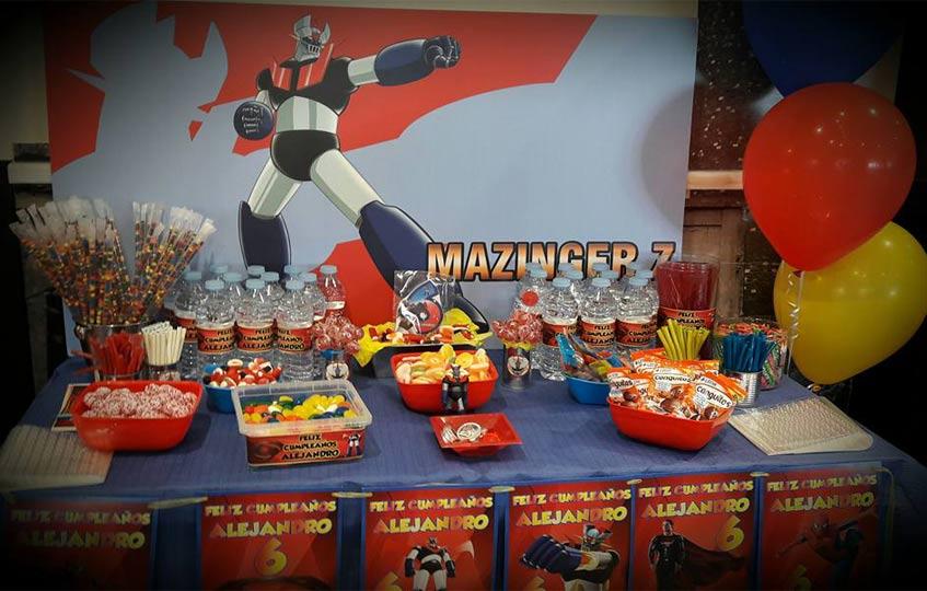 Mesa de chuches Mazinger Z