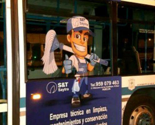 Rotulación autobús Saytra